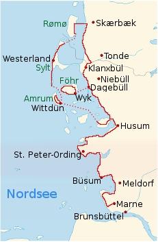 Radtour Nordseek 252 Stenradweg Marne Amrum Sylt R 248 M 248